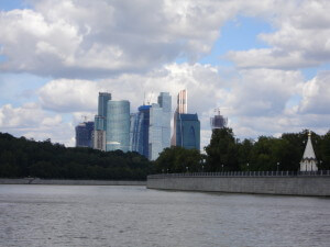 Skyscrapers from the Moscow River