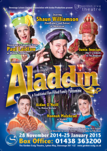 Aladdin at Stevenage Poster