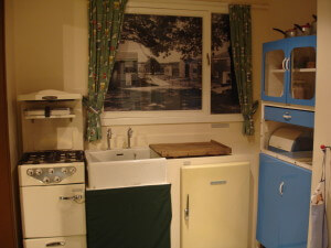 1950s kitchen at Stevenage Museum