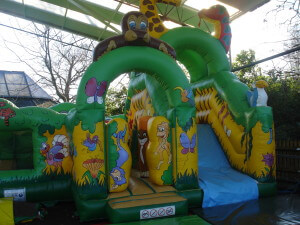 Bouncy castle at Paradise Wildlife Park