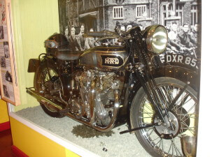 Vincent motorbike at Stevenage Museum