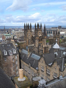 Edinburgh rooftops from World of Illusions