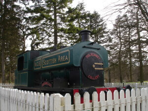 Steam train at Polkemmet Country Park
