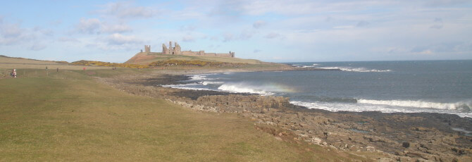 Dunstanburgh Castle a bit nearer