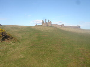 Dunstanburgh Castle up close