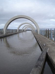 Falkirk Wheel from the top